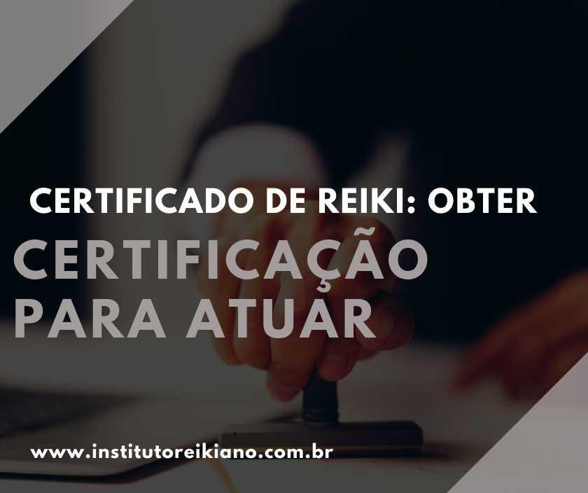 certificado de reiki