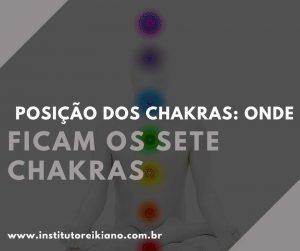 posição dos chakras